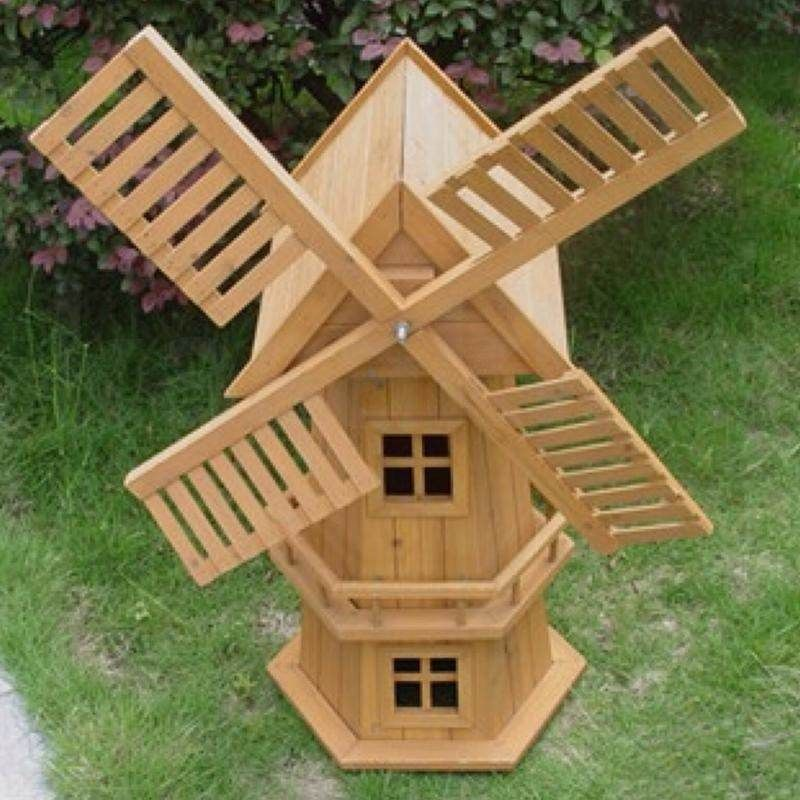 New 90cm Wood Windmill Garden Ornament Plant Hol In 2020 Wood