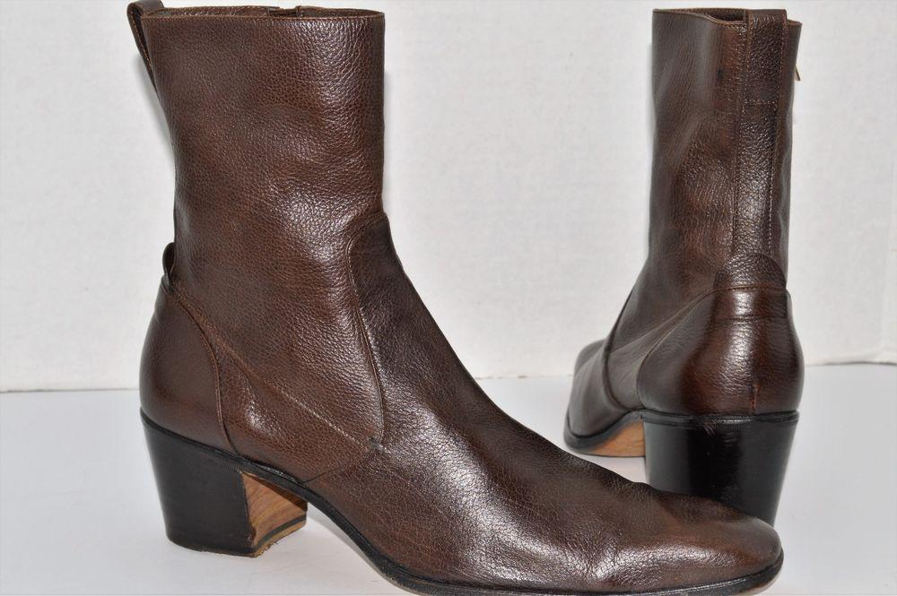 d94d39b5439 Details about Saint Laurent Hedi Jodhpur Boots Black Leather EU Size ...
