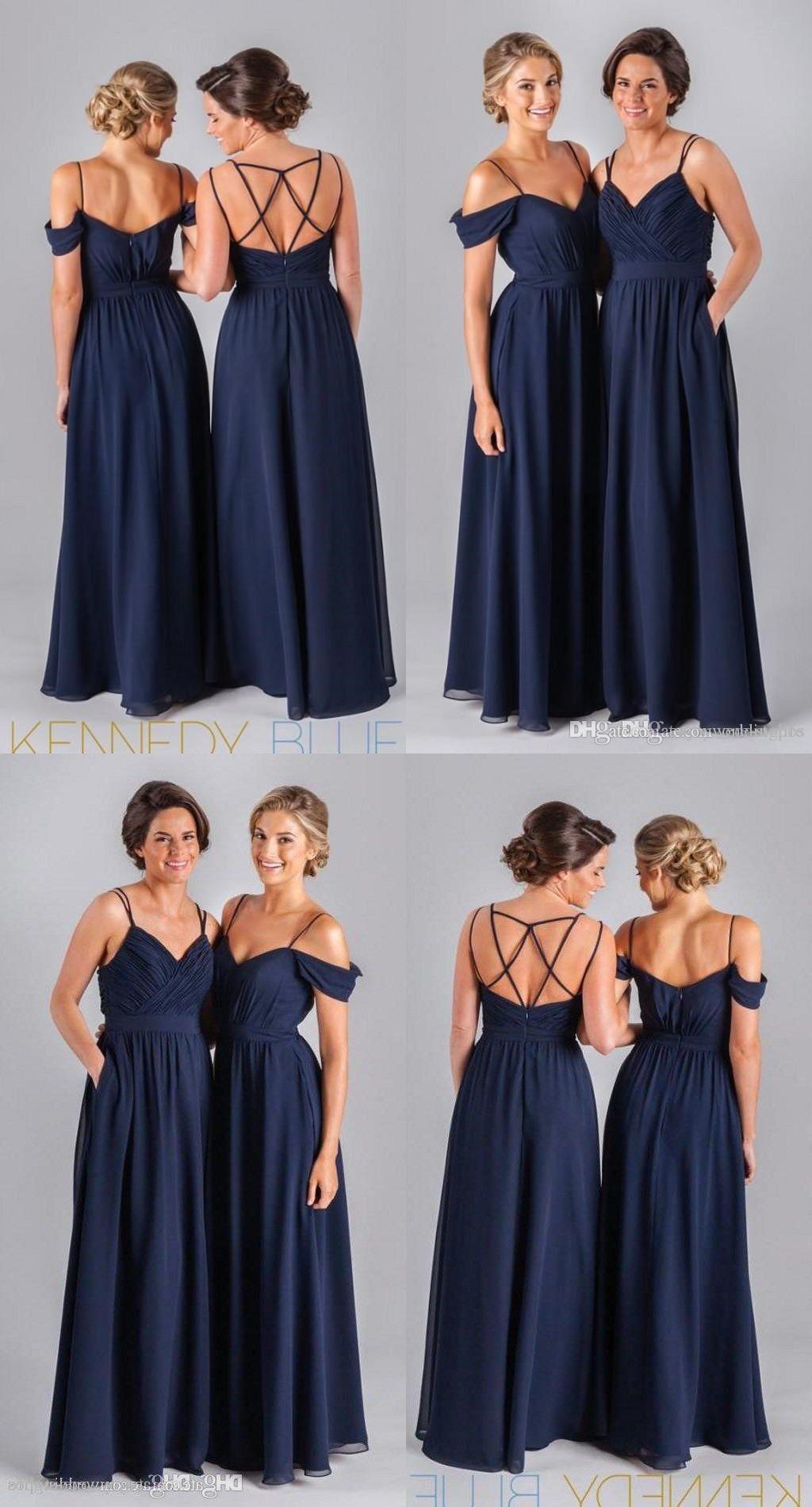 Cheap spaghetti strips long bridesmaid dresseswedding guest wear