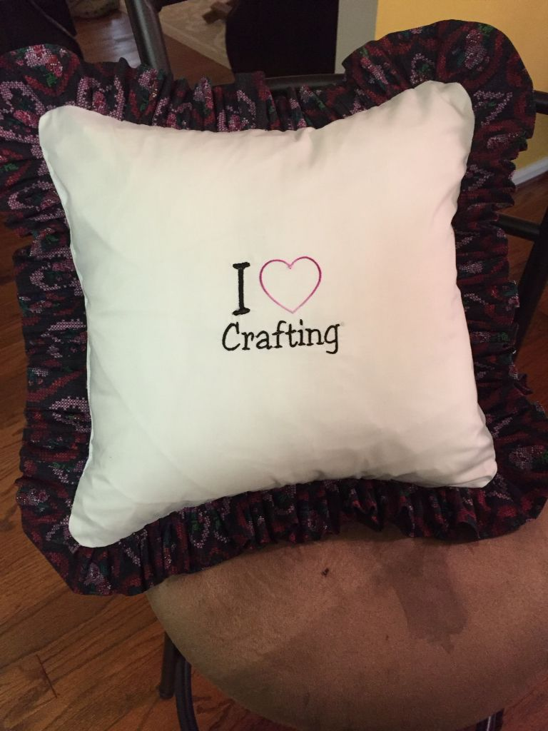 Crafting pillow