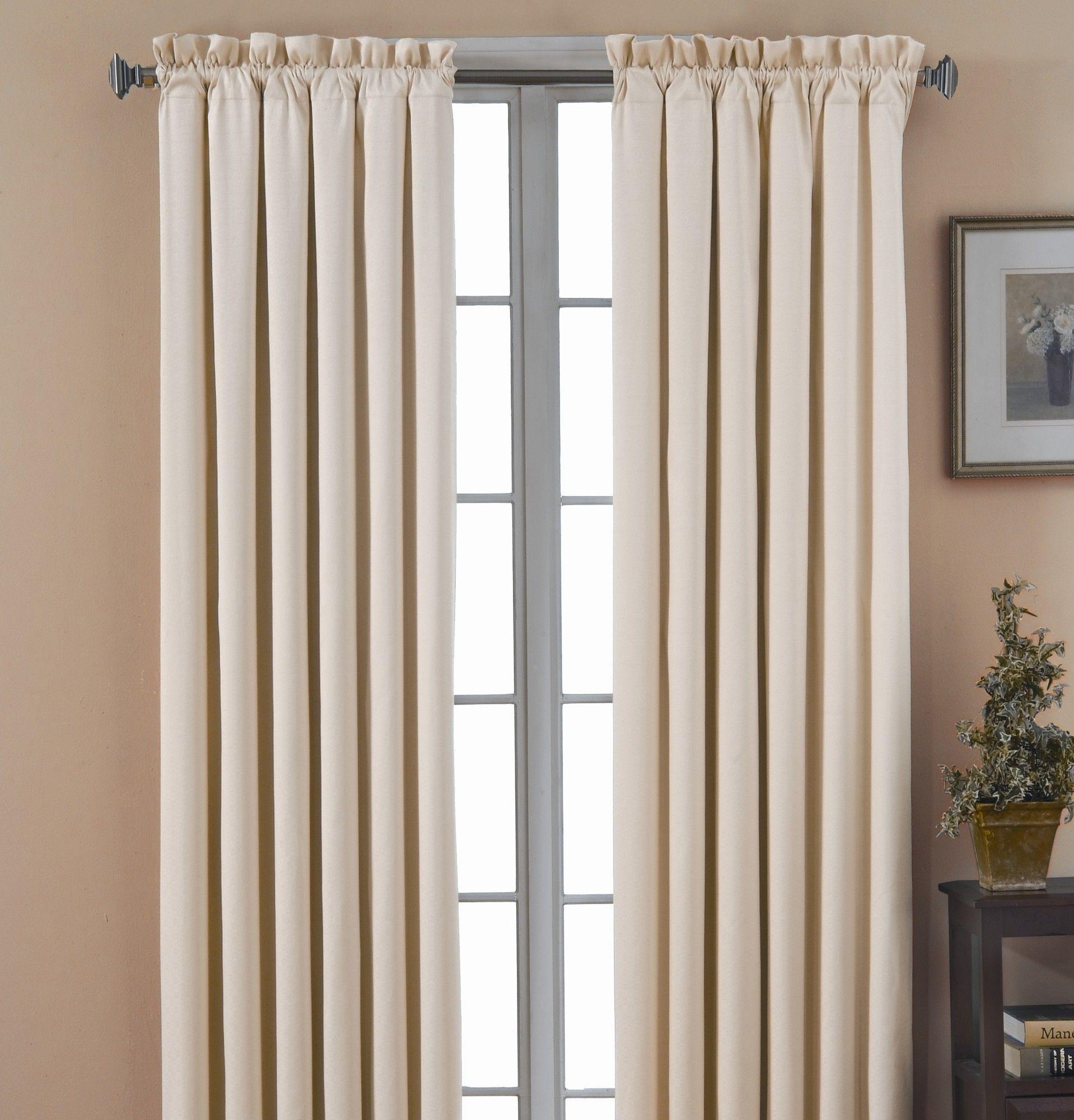 Canova Ivory 42 Inch X 63 Blackout Window Curtain Panel Eclipse Panels Sets W