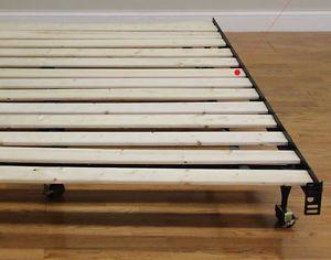 details about full king queen twin size wood slats metal bed frame platform foundation bedroom - Metal Bed Frame Full