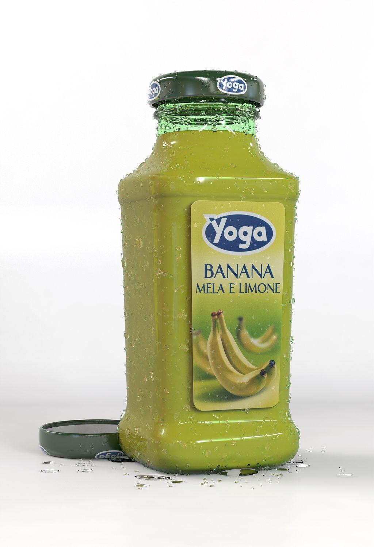 Yoga Juice Bottle / 3D Model.