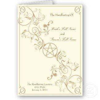 Handfasting Invitation Would Have To Be Black Red Or Black