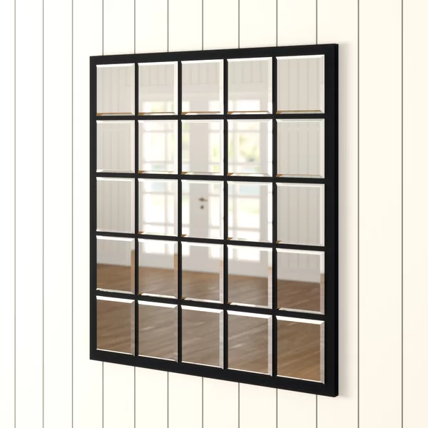 Elsinore Industrial Beveled Accent Mirror In 2020 Black Wall