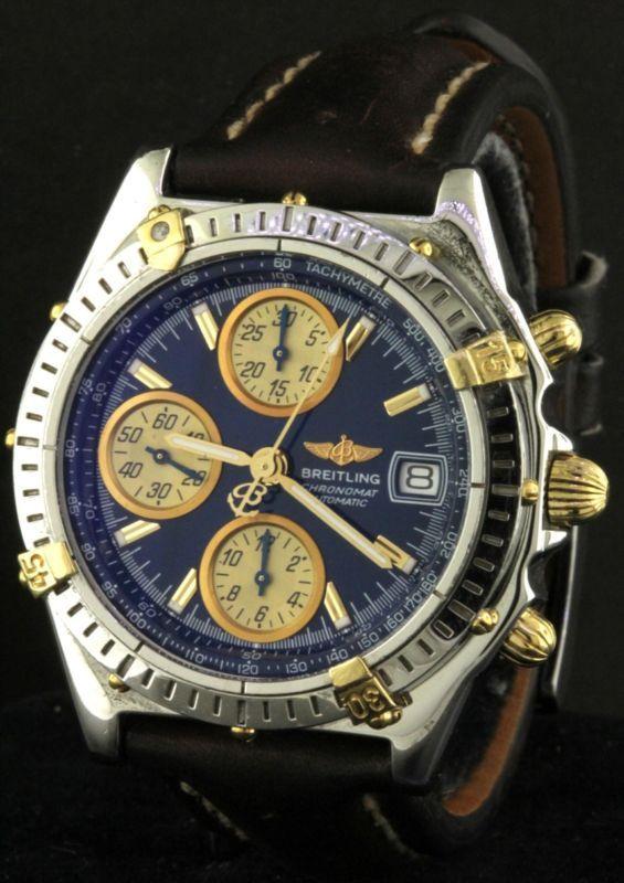 Breitling Chronomat B13050 1 Ss 18k Gold Automatic Chronograph Men S