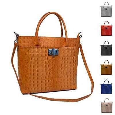 Photo of WOMEN'S LEATHER BAG Business Shopper KROKO Shoulder Bag IT-BAG Shoulder Bag: …