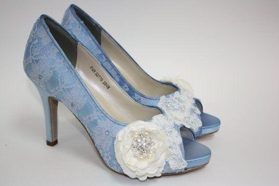 17 Best images about Shoes on Pinterest   Blue wedding shoes, Lace ...
