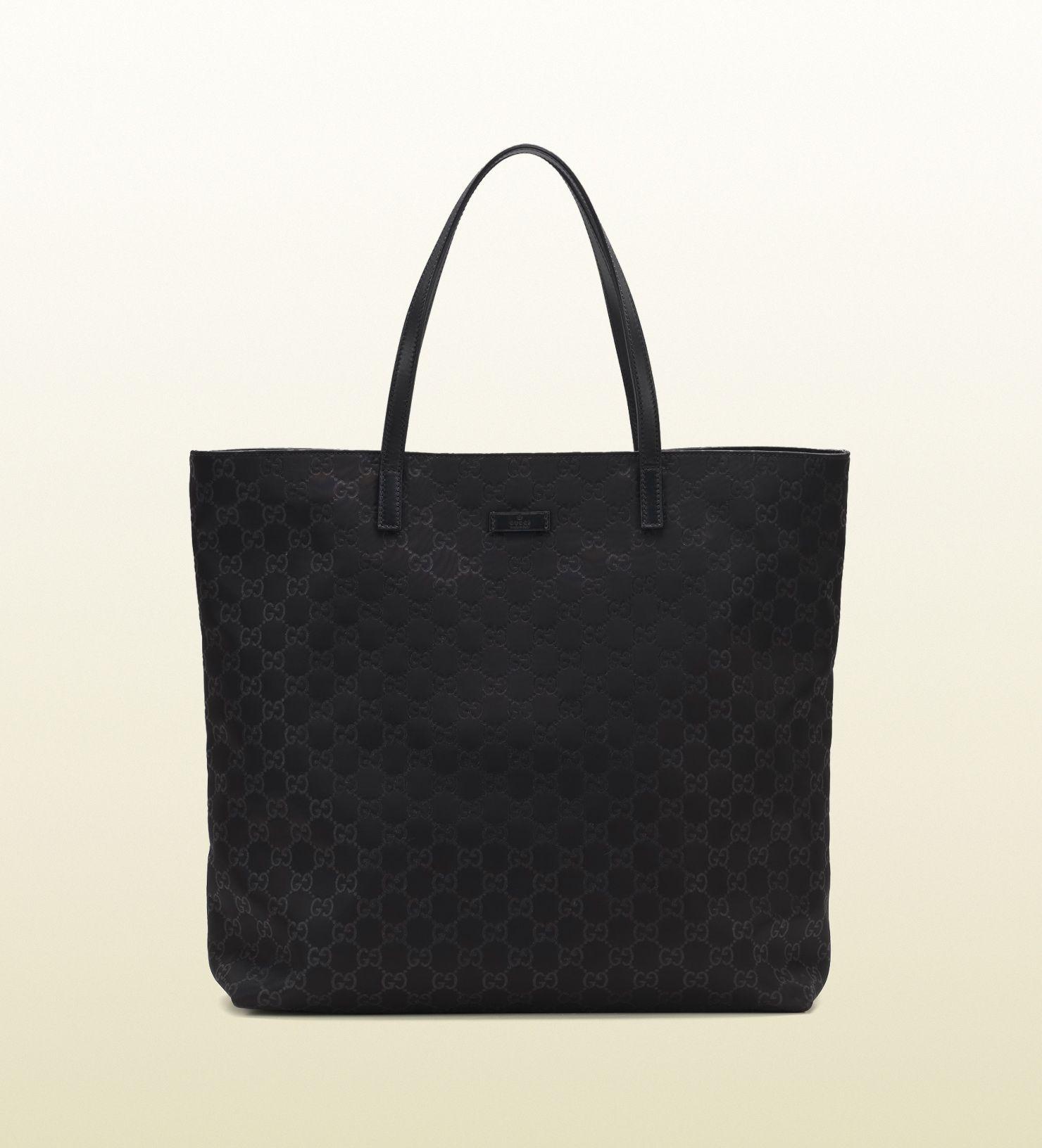 black Gucci tote bag