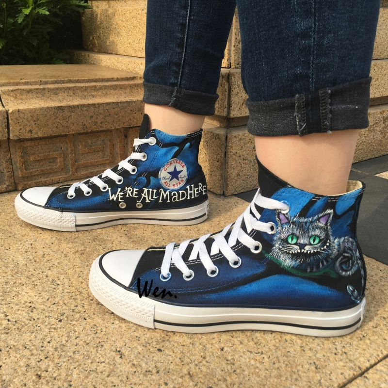 Sneakers Cheshire Cat Converse All Star Hand Painted Shoes