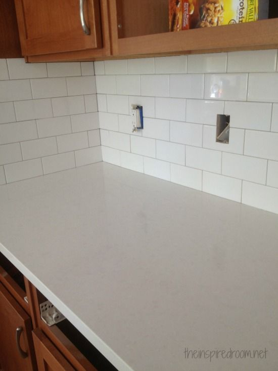 Kitchen Progress Subway Tile And Counters Kitchen Sink Diy