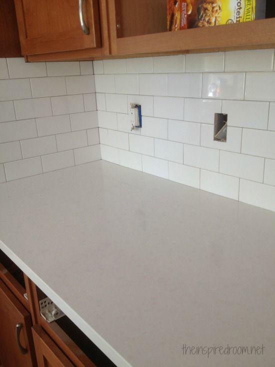 Kitchen Progress Subway Tile And Counters Kitchen Tiles