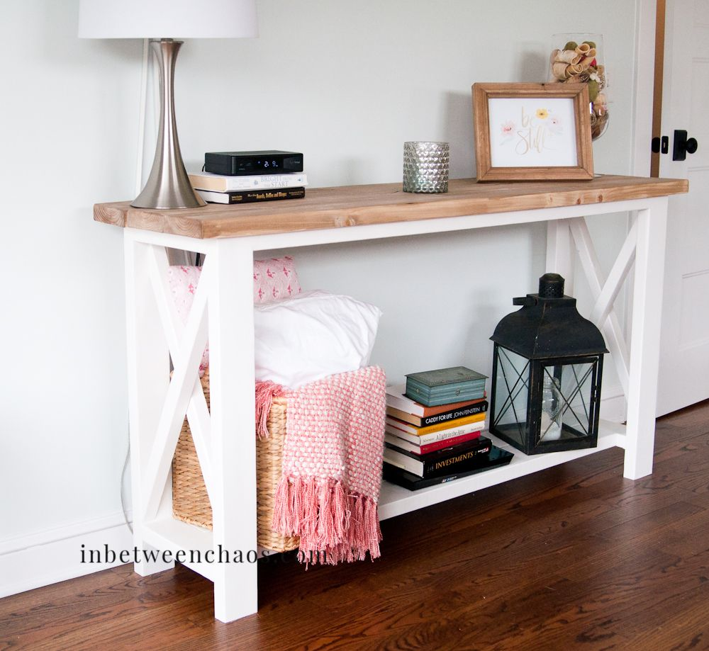 Rustic X Console Table Do It Yourself Home Projects From Ana