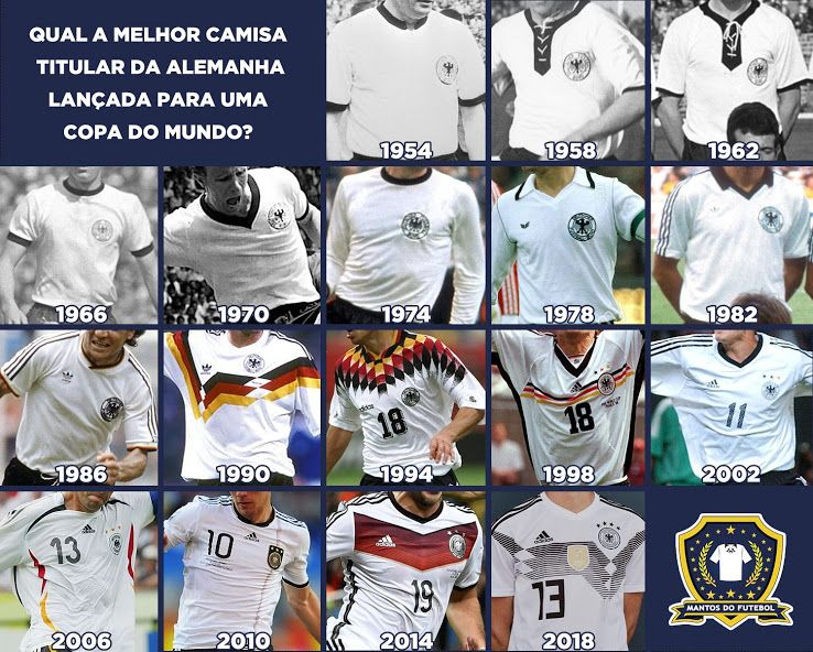 1934 2018 Here Are All Germany World Cup Home Kits In History Footy Headlines Dfb