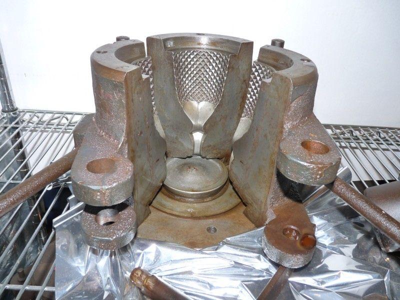 Glassblowerinfo clevenger brothers goblet press mold