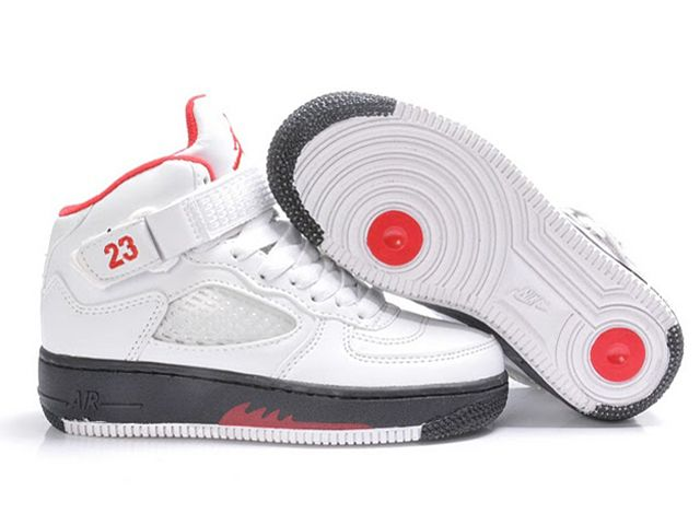 Chaussures Nike Air Force One Blanc/ Noir/ Rouge [nike_10539] - €61.90