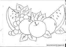 Resultado de imagen para dibujos de flores y frutas para pintar en
