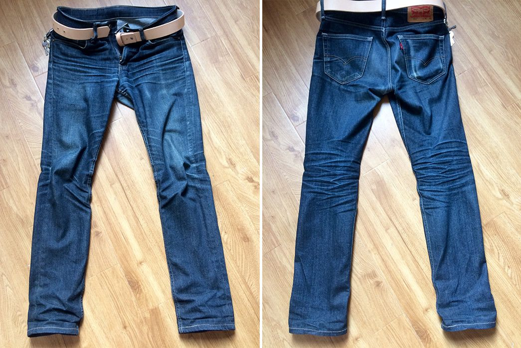b583e4bd629 Fade-of-the-Day---Levi's-511 -Rigid-Dragon-(6-Months,-1-Wash,-4-Soaks)-front-back