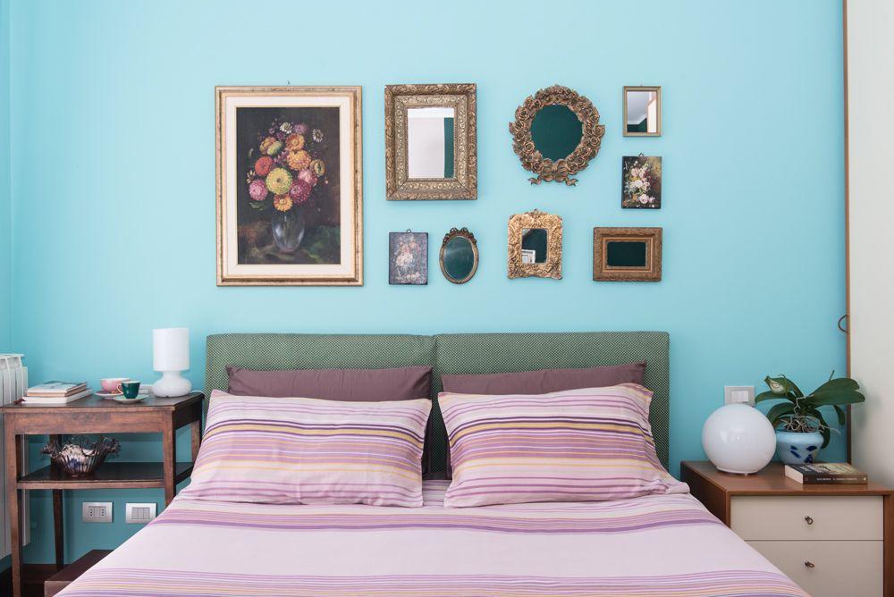 camera da letto elegante e raffinata, verde e tiffany | MIRROR ...