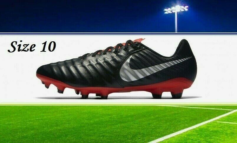 Advertisement Ebay Nike Tiempo Legend 7 Pro Fg Soccer Cleats Mens Black Red Sz 10 Retail 130 Soccer Cleats Nike Soccer Cleats Black And Red