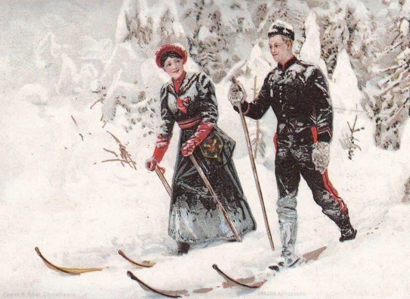 является лыжи в древней руси картинки для