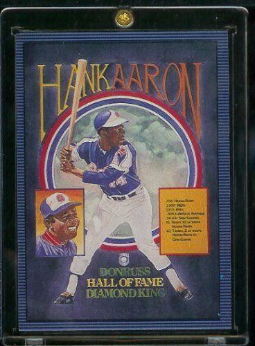 1986 donruss hank aaron hall of fame diamond king baseball