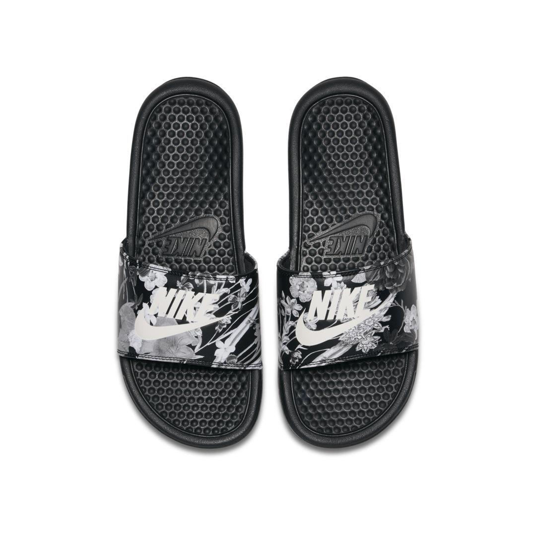 quality design 8c5c4 a59dc Nike Benassi JDI Floral Women s Slide Size 10 (Black)