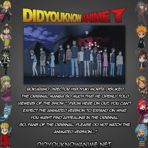 Dyka Bokurano 01 Did You Know Anime Did You Know The Originals Anime