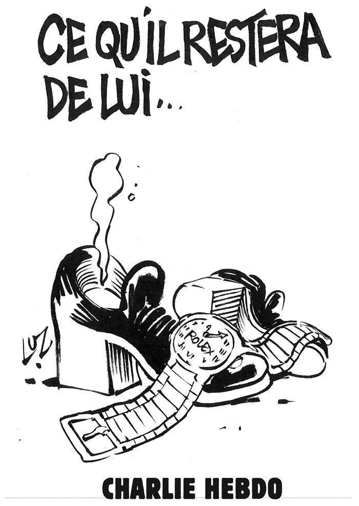 CHARLIE HEBDO-2012- défaite de Sarko par LUZ