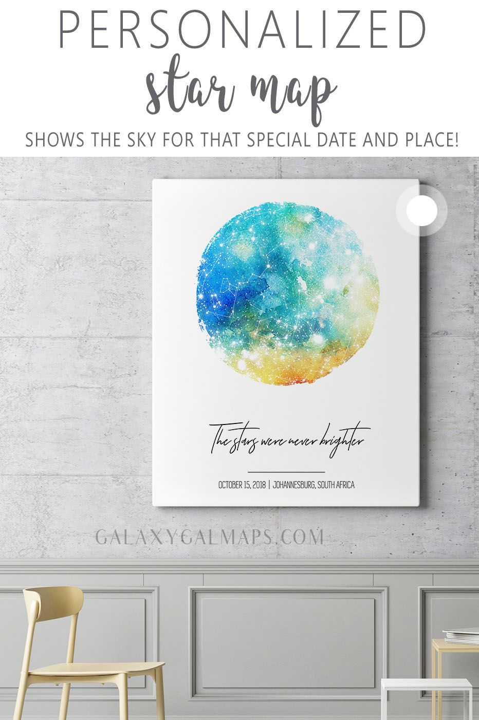 Your Personal Star Map First Date Sign 11 Year Anniversary