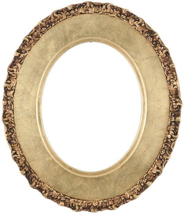 Ella Gold Leaf Oval Picture Frame