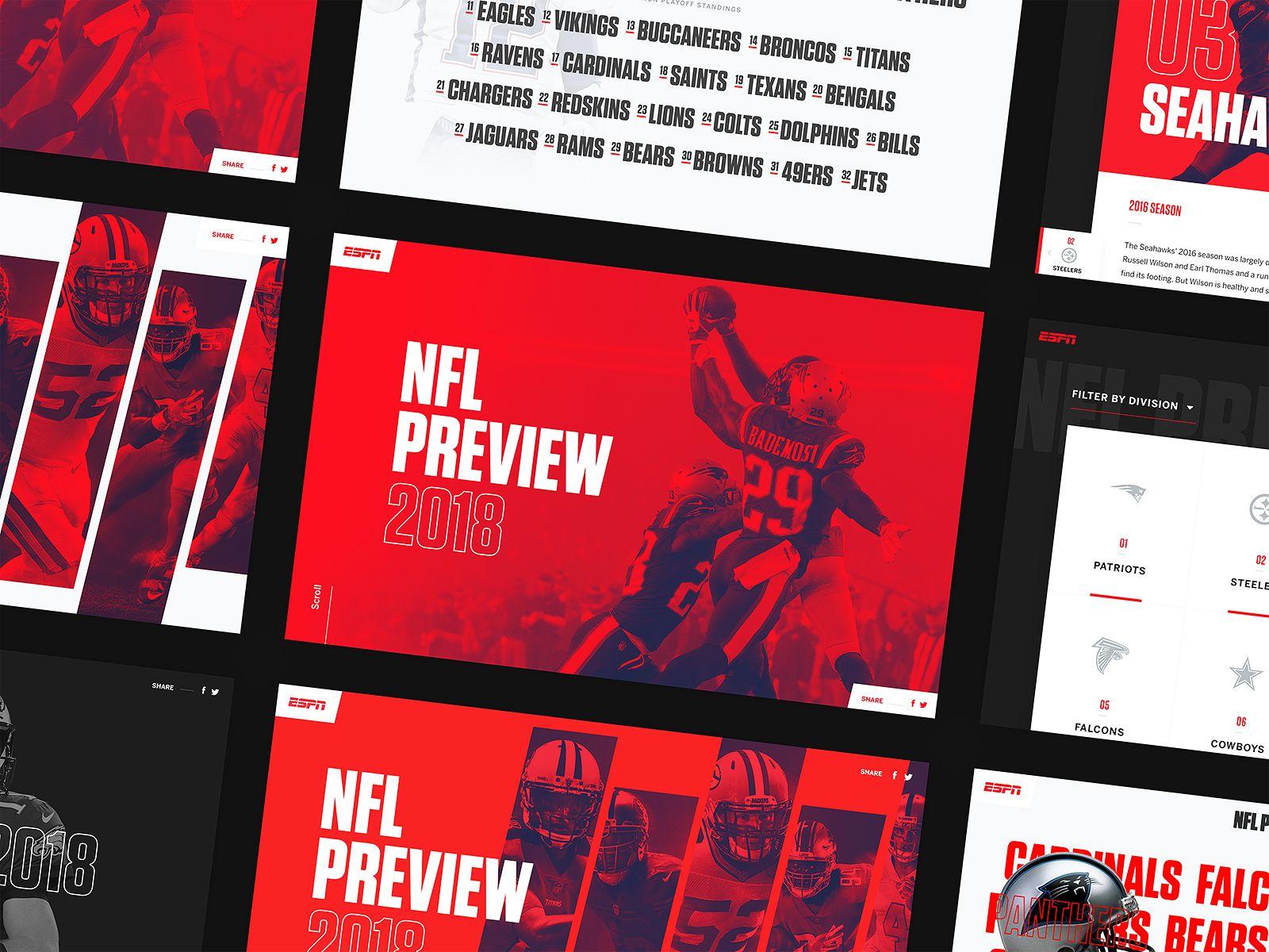 Espn Nfl Preview Screens Nfl Espn Interactive Design