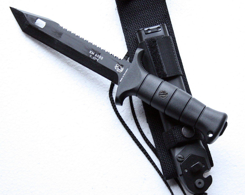 Kampfmesser KM 4000, Rückkensäge, Drahtschneider   knives ...