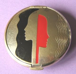 I LOVE this one! RICHARD HUDNUT 2 ART DECO FACES COMPACT
