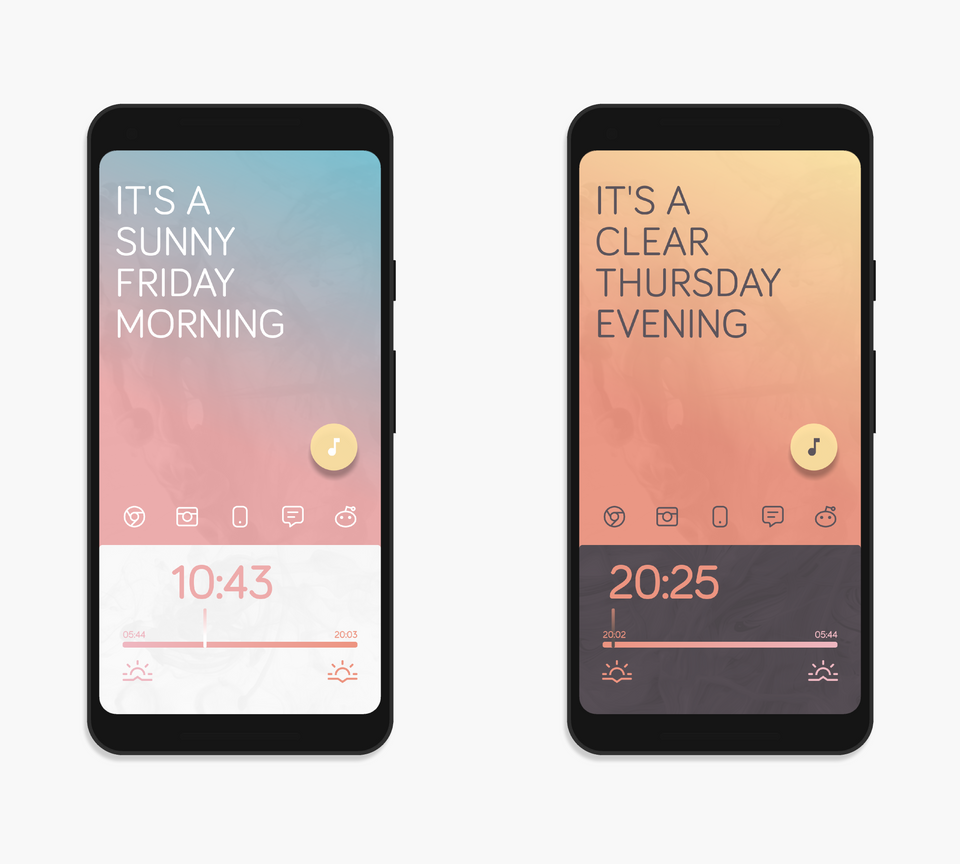 [THEME] Senja androidthemes App design, Homescreen, Theme
