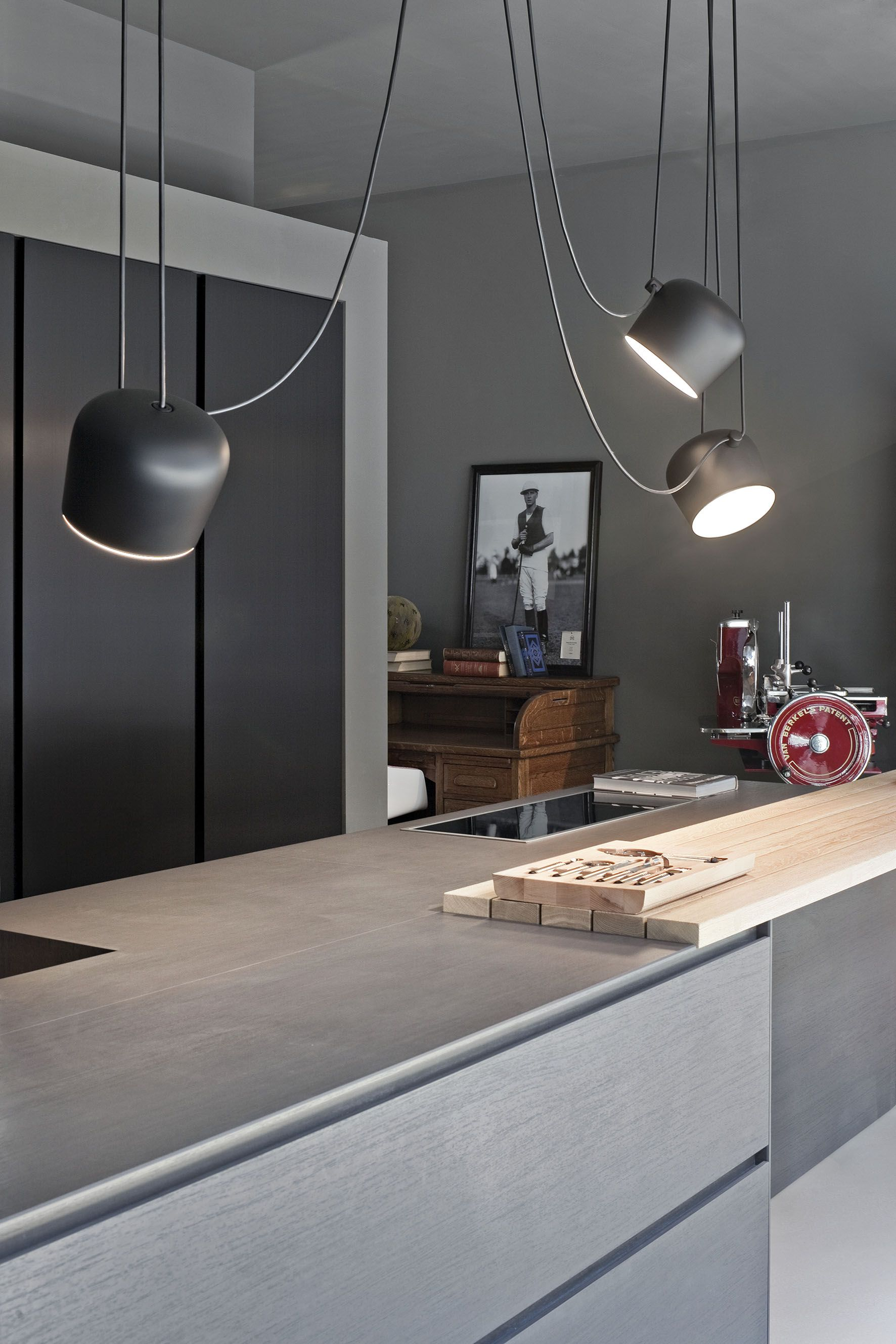Hängelampe Für Küchenblock Aim Flos Bouroullec Kitchens Kitchen Pendant Lighting