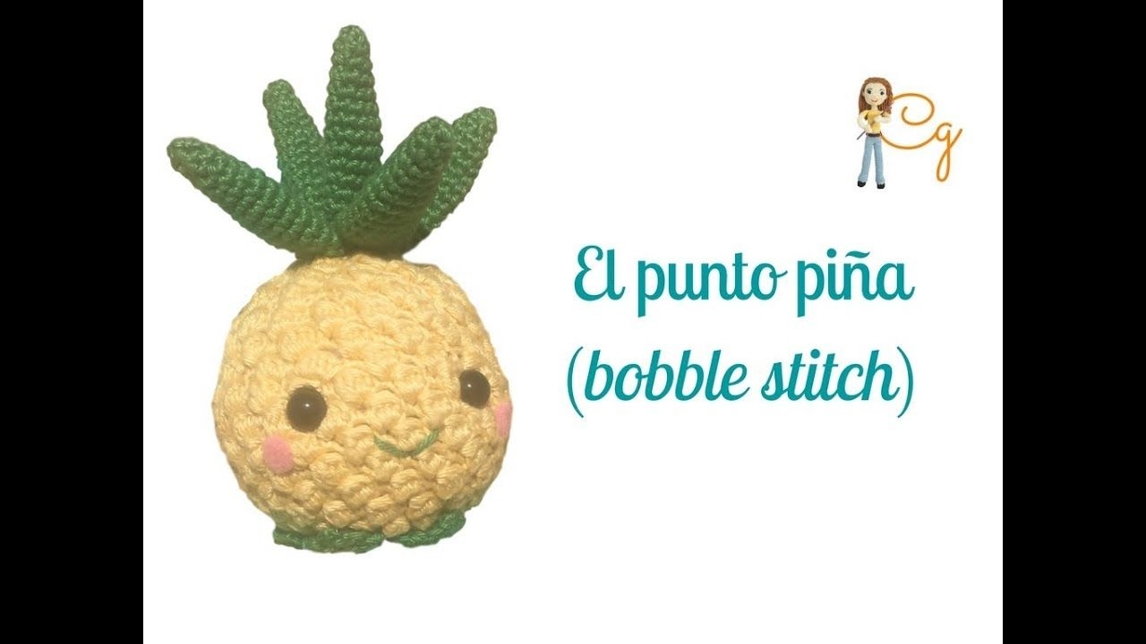 Punto piña o bobble stitch para amigurumi - YouTube | cat crochet ...