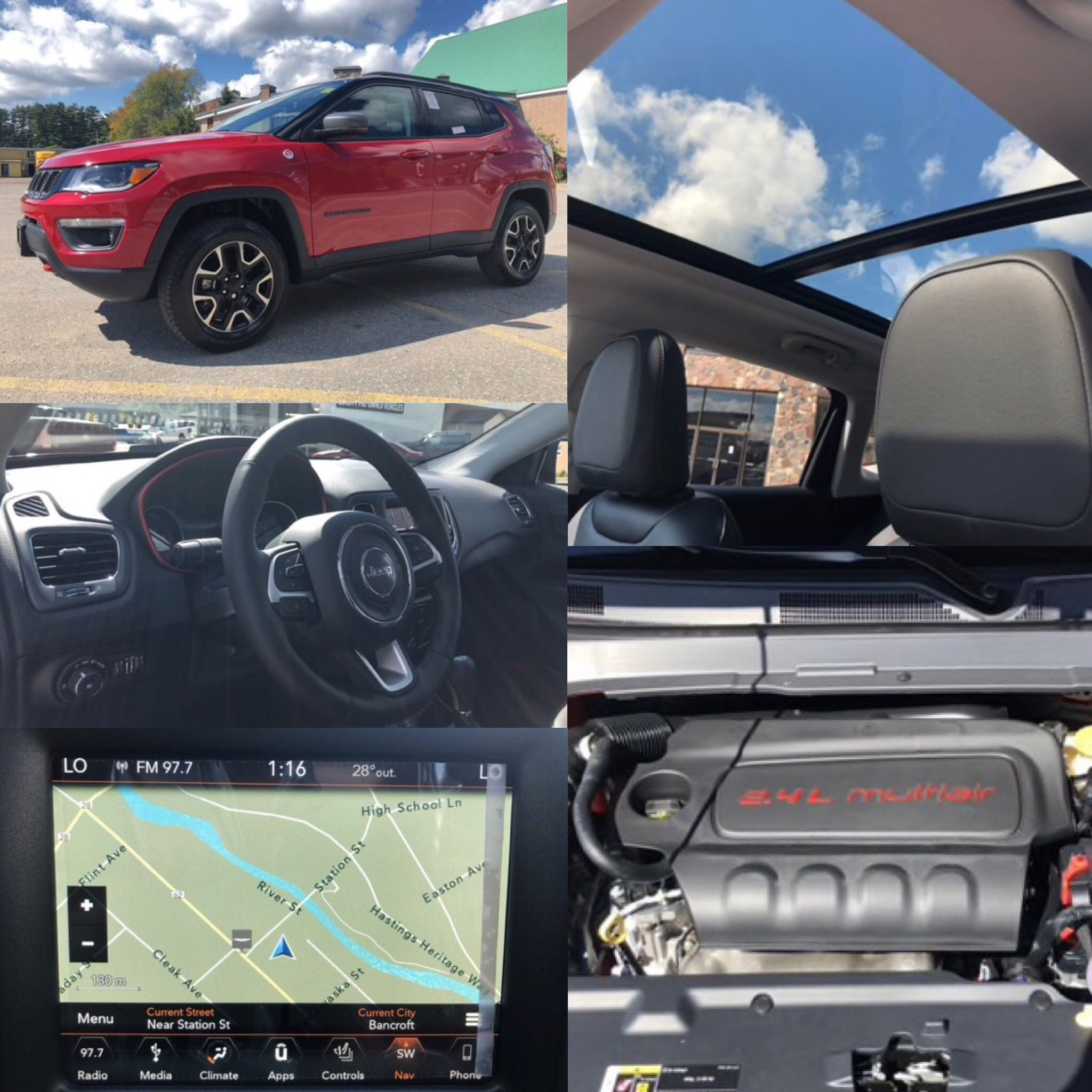 2019 Redline Pearl Jeep Compass Trailhawk 4x4 Leather Nav Bluetooth Htd Seats Backup Cam Stock 19055 Click Pic For More Info With Images Jeep Compass Jeep Compass