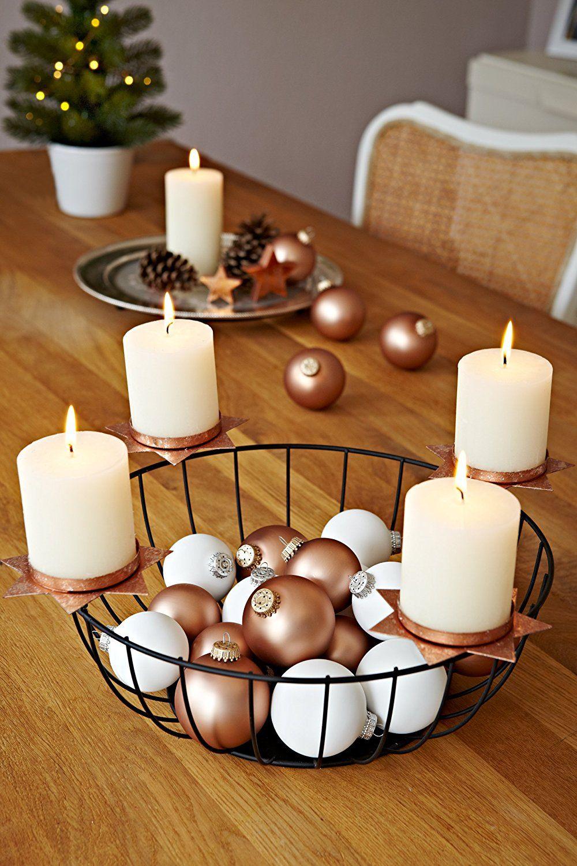 Werbung Heitmann Deco Kerzenhalter Aus Metall Fur 4 Kerzen Adventsdekoration Schwarz Kupfer Weihnachten Weihnachtsdeko Deko De Weihnachten Kerzenhalter Metall Und Weihnachtsideen