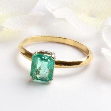 Simple Elegance Emerald Ring Emerald Ring Elegant Engagement Rings Simple Elegant Engagement Rings