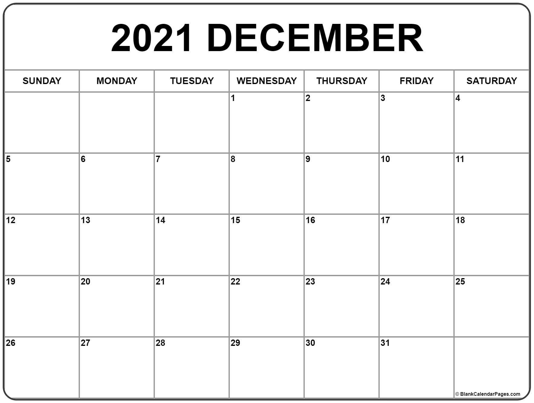Month Of December 2021 Calendar Cute December 2021 Calendar in 2020 | Monthly calendar printable