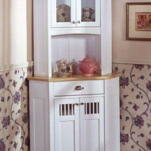 Small Corner Hutch For Kitchen  Httppascalito  Pinterest Impressive White Kitchen Hutch Inspiration Design