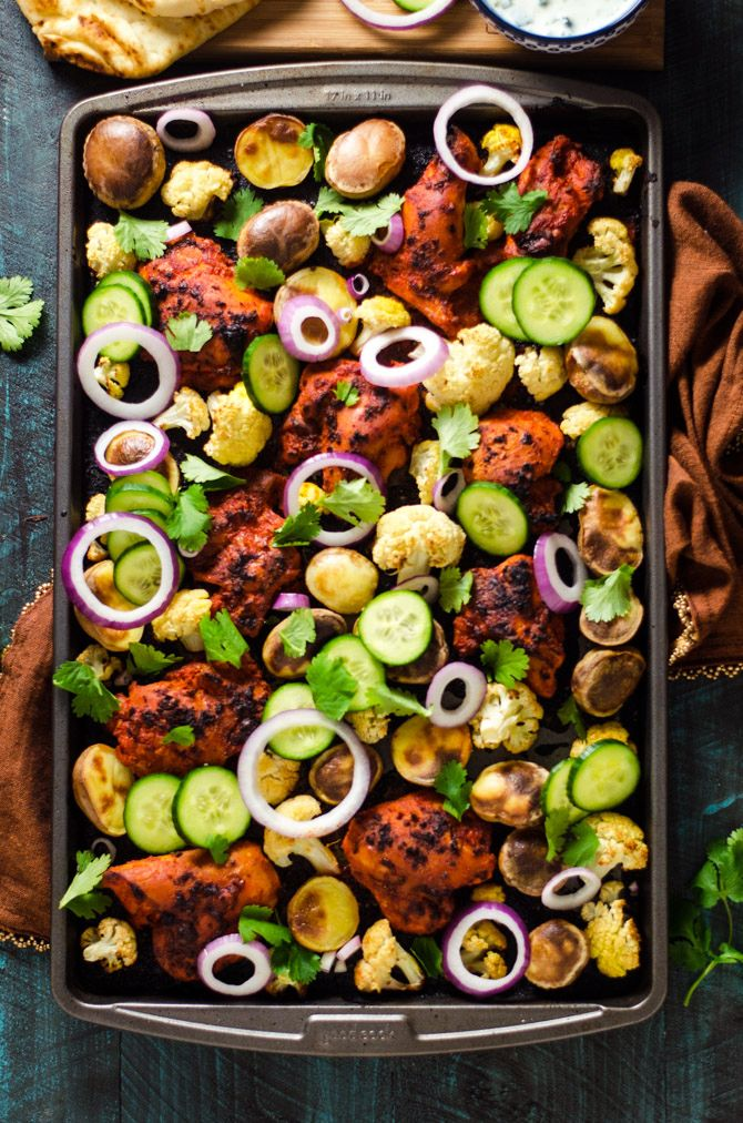 Sheet Pan Tandoori Chicken And Vegetables Recipe
