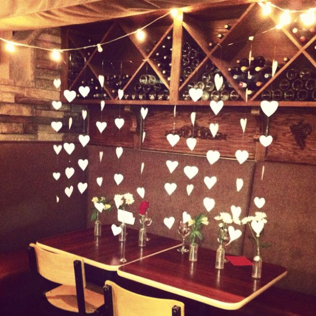 Creative valentines table decoration!