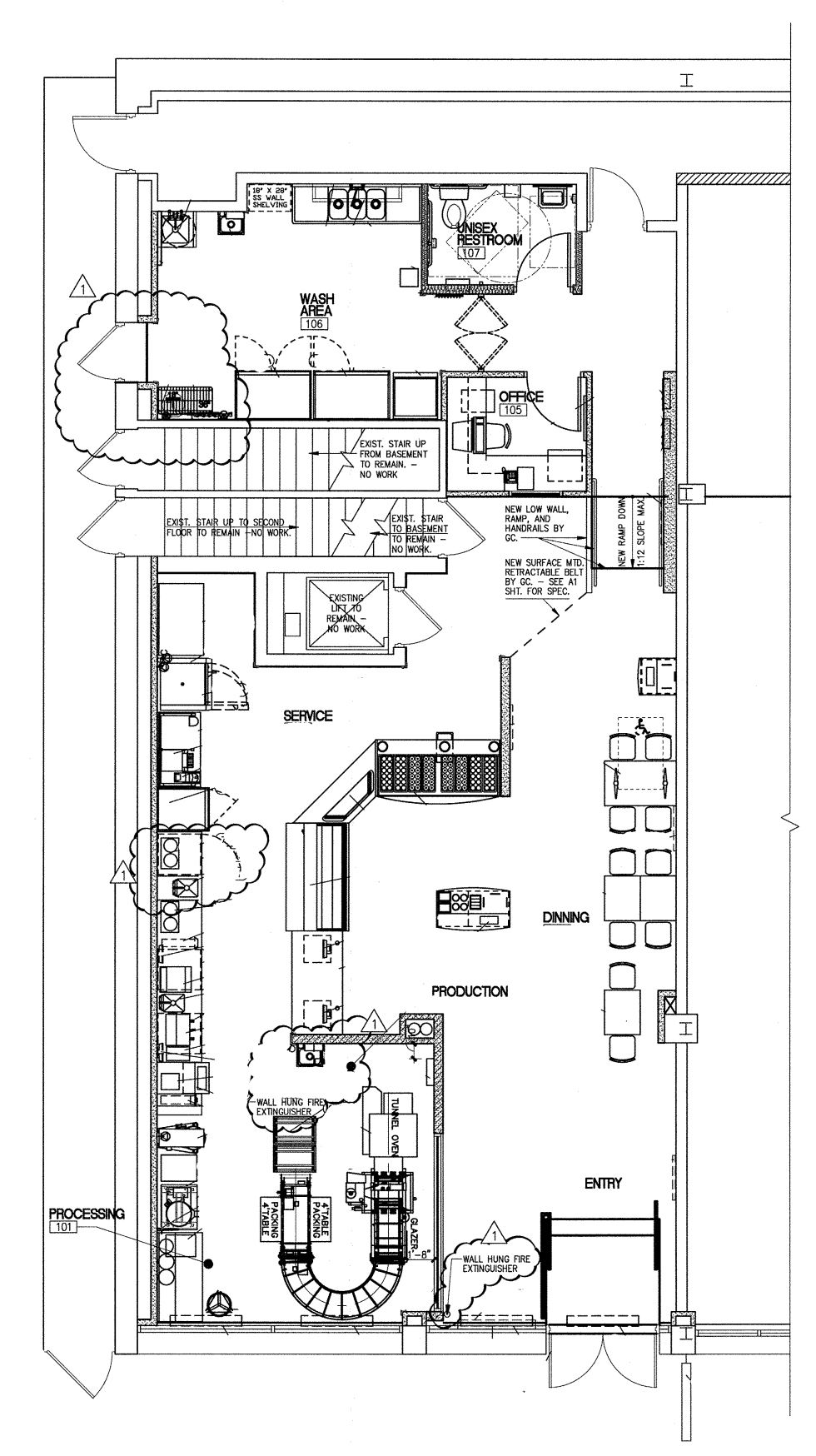 Floor Plan for Krispy Kreme Chestnut Street Floor plans