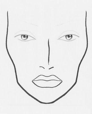 Face chart also blank google zoeken charts pinterest rh
