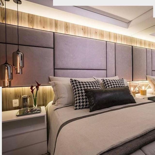 Cabeceiras de cama cabeceiras de placas cabeceira em for Cama moderna 2018