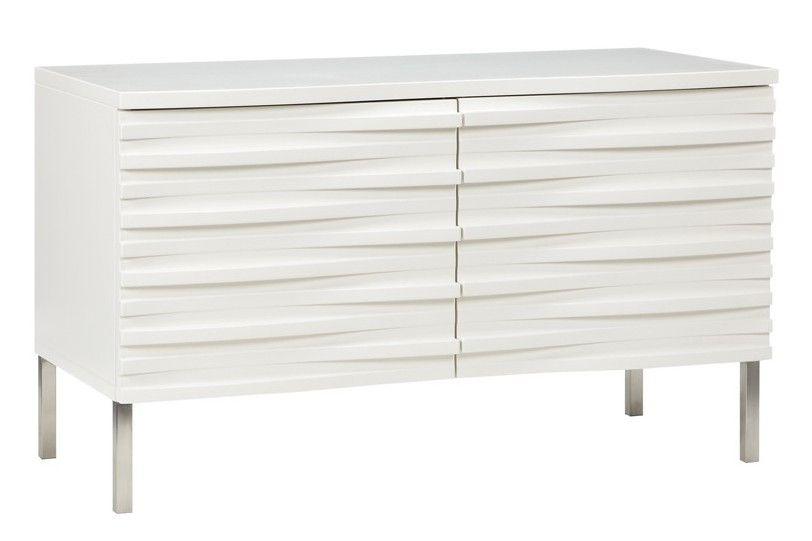Wave Medium Sideboard White Narrow Sideboard Terence