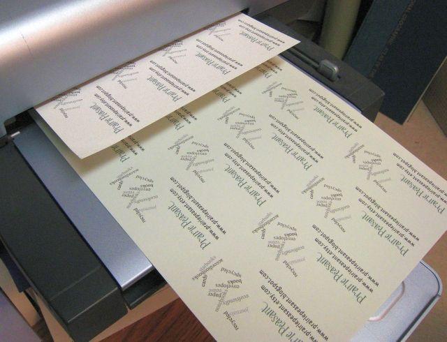 Drucken Sie Ihre Visitenkarten Zu Hause Sowie Machen Sie