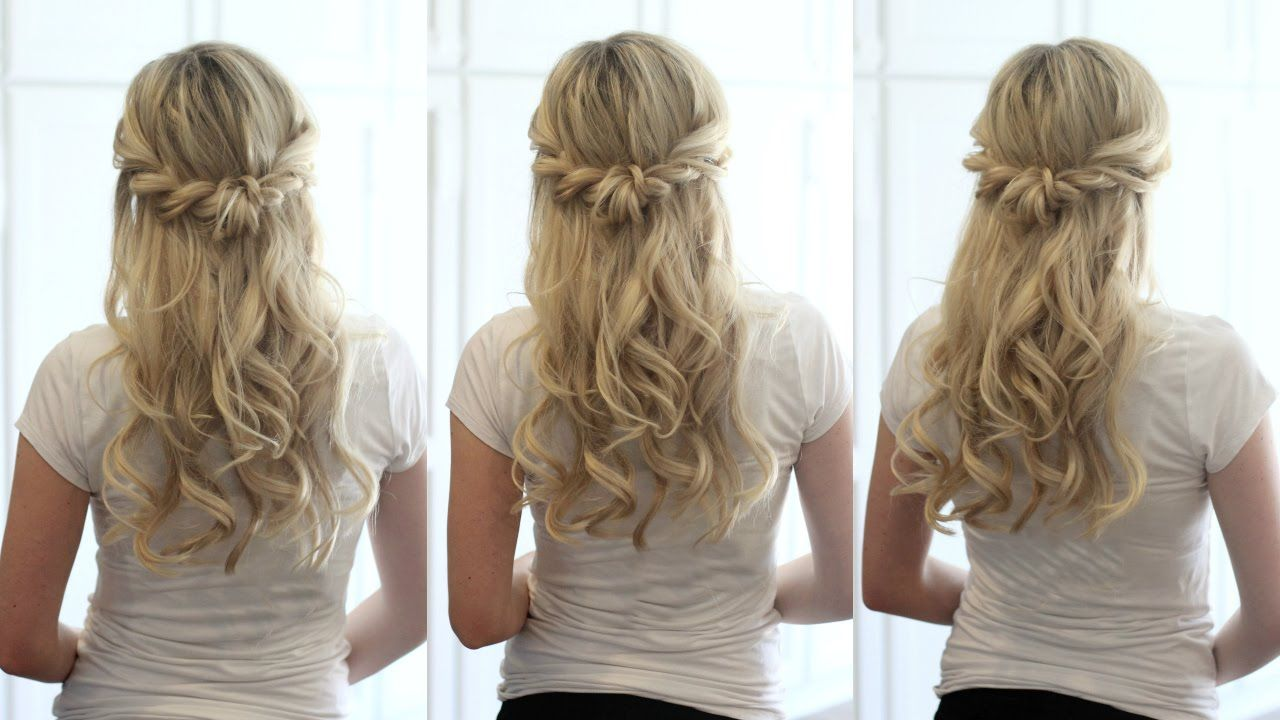 Half Up Crown Braid Quick Easy Hairstyle Youtube Half Up Half Down Hair Prom Braided Crown Hairstyles Braid Half Up Half Down